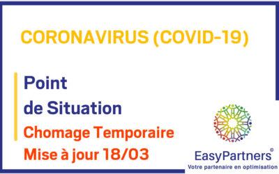 COVID-19 : Chomage temporaire, mise à jour du 18/03